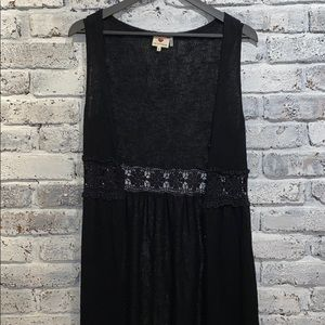 Long Black Duster Sweater Vest - One Clothing